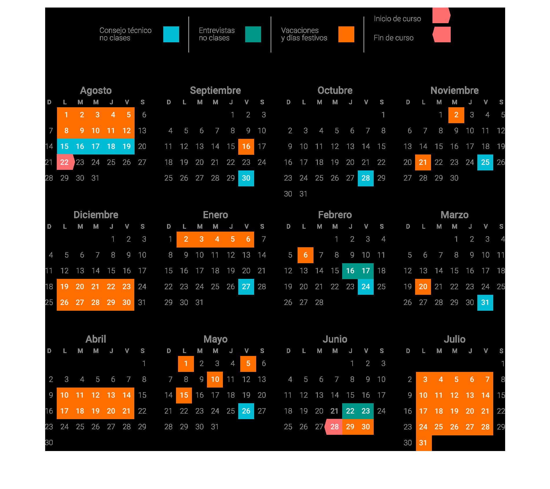 Calendario Montessori.Calendario Montessori American Schoolmontessori American School
